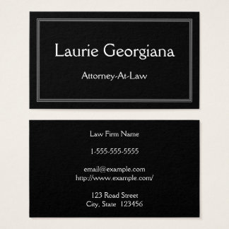 Clean & Modern Attorney-At-Law Business Card