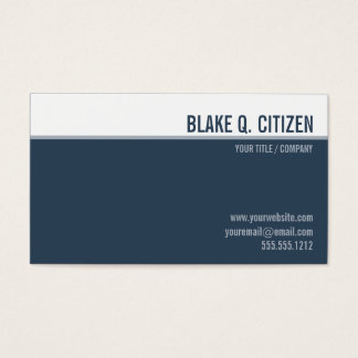 Clean modern slate blue business card