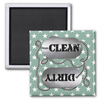 Clean N Dirty Dog Tags 7 (Dishwasher Magnet) Magnet