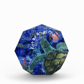 Clean Ocean Sea Turtle Art Acrylic Award