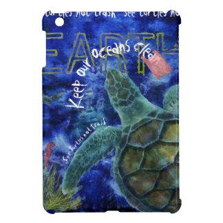 Clean Ocean Sea Turtle Art iPad Mini Cases