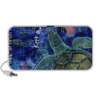 Clean Ocean Sea Turtle Art Speaker
