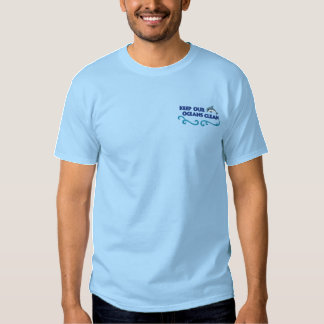 Clean Oceans Embroidered T-Shirt