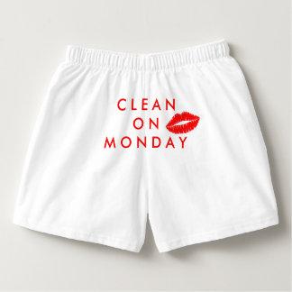 Clean On Monday Boxercraft Cotton Boxers, Red Kiss Boxers