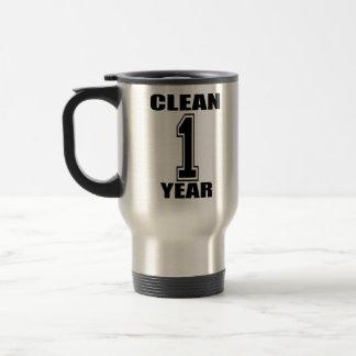 Clean One Year Travel Mog 15 Oz Stainless Steel Travel Mug