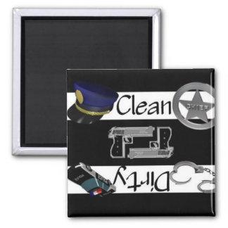 Clean or Dirty Arrest Dishwasher Magnet