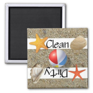 Clean or Dirty Beach Dishwasher Magnet