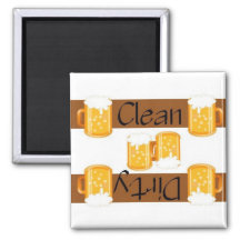 Clean or Dirty Beer Dishwasher Magnet