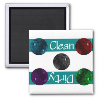 Clean or Dirty Bowling Dishwasher Magnet