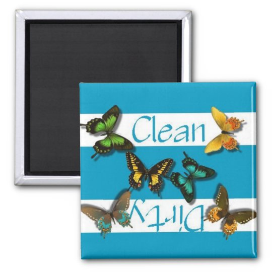 Clean or Dirty Butterflies Dishwasher Magnet