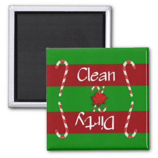 Clean or Dirty Candy Cane Dishwasher Magnet