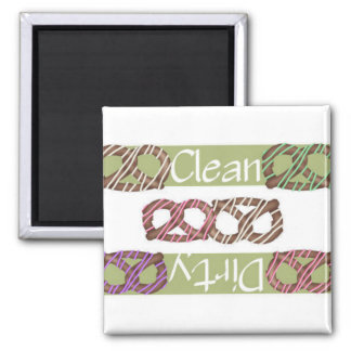 Clean or Dirty Chocolate Pretzels Dishwasher Magnet