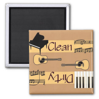 Clean or Dirty Country Music Dishwasher 2 Inch Square Magnet