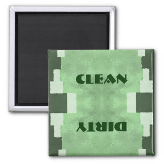 Clean or Dirty Dishwasher 2 Inch Square Magnet
