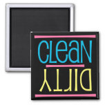 Clean or Dirty Dishwasher Magnet, Square
