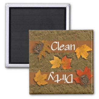 Clean or Dirty Fall Leaves Dishwasher Magnet
