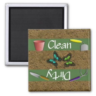 Clean or Dirty Garden Dishwasher Magnet
