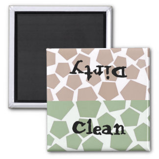 Clean or Dirty Hexagon Design Magnets