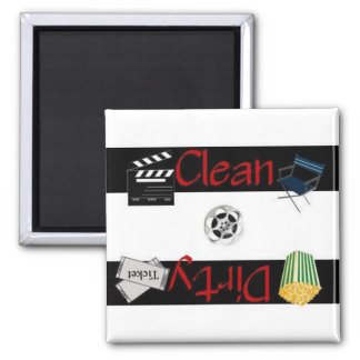 Clean or Dirty Movies Dishwasher Magnet