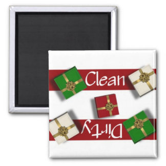 Clean or Dirty Presents Dishwasher Magnet