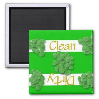 Clean or Dirty Shamrock Dishwasher Magnet
