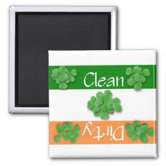 Clean or Dirty St. Patrick's Day Flag Magnet