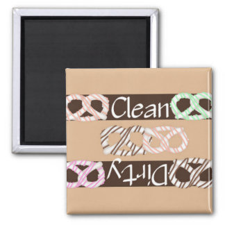 Clean or Dirty White Chocolate Pretzels Dishwasher Magnet