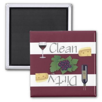 Clean or Dirty Wine Dishwasher Magnet magnet