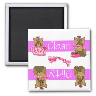 Clean or Dirty Yorkie Dishwasher Magnet
