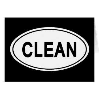 CLEAN OVAL STICKER Sober Sobriety Recovery AA Card