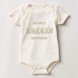 Clean pastel design- Nature's Bestfriend Baby Bodysuit