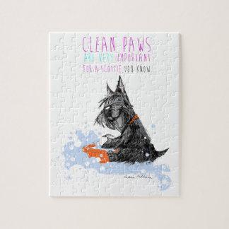 Clean Paws Scottie Dog Jigsaw Puzzle