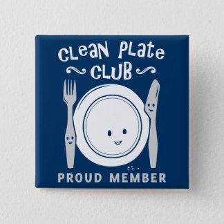 Clean Plate Club Pinback Button