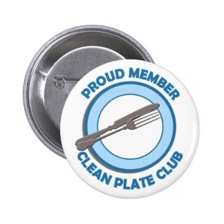 Clean Plate Club Proud Member 2 Inch Round Button