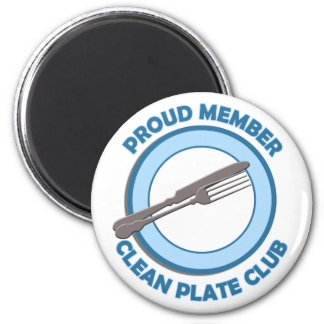 Clean Plate Club Proud Member 2 Inch Round Magnet