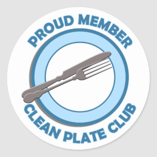 Clean Plate Club Proud Member Classic Round Sticker