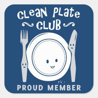 Clean Plate Club Square Sticker