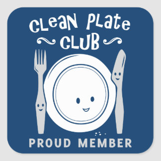 Clean Plate Club Square Sticker