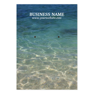 Clean Sand & Sea Water Earring Holder Business Card