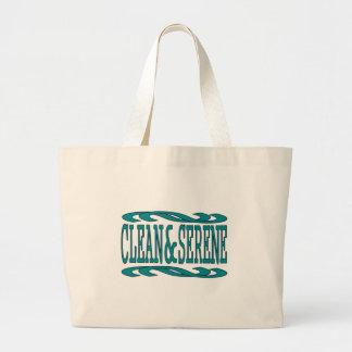 Clean & Serene Jumbo Tote Bag