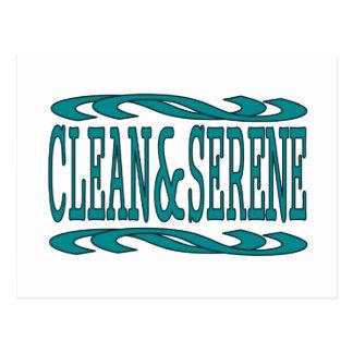 Clean & Serene Postcard