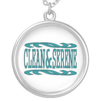 Clean & Serene Round Pendant Necklace
