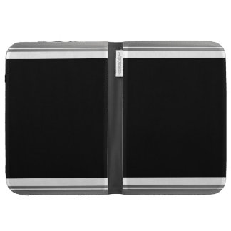Clean Silver Metallic Edge Border Case For The Kindle