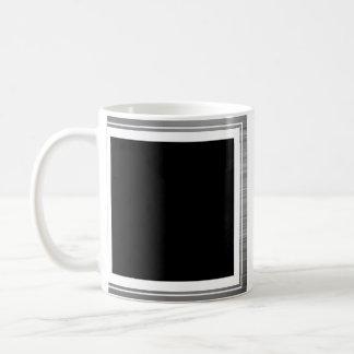 Clean Silver Metallic Edge Border Coffee Mug