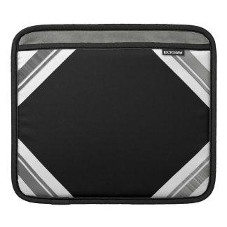 Clean Silver Metallic Edge Border Sleeves For iPads