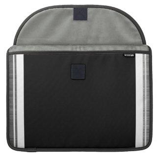 Clean Silver Metallic Edge Border MacBook Pro Sleeves
