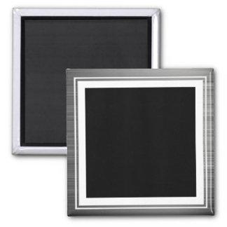 Clean Silver Metallic Edge Border Magnet