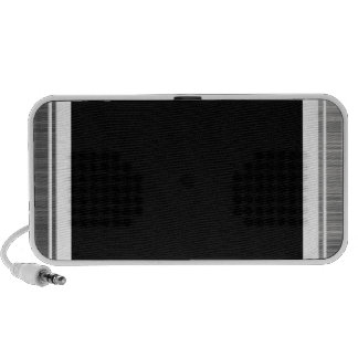 Clean Silver Metallic Edge Border PC Speakers