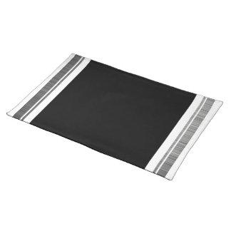 Clean Silver Metallic Edge Border Placemat