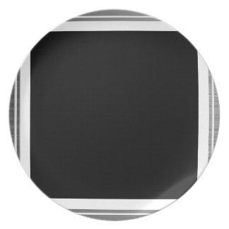 Clean Silver Metallic Edge Border Plate